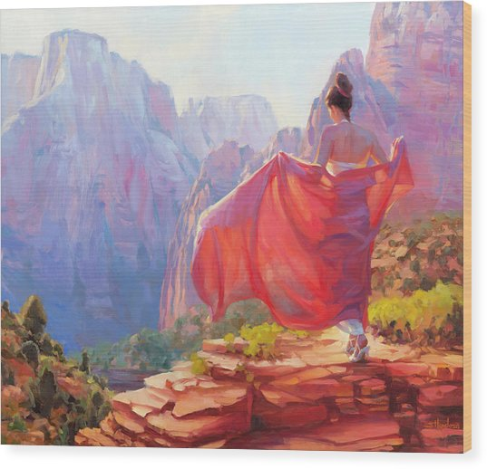 Wood Print featuring the painting Light Of Zion by Steve Henderson