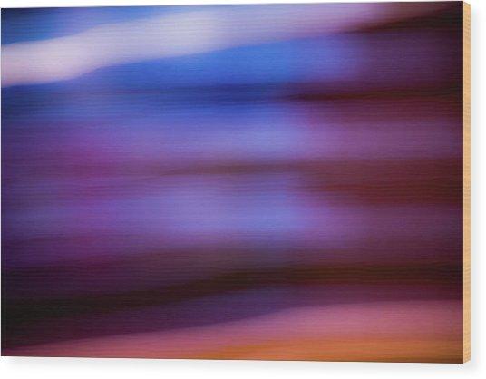 Violet Dusk Wood Print
