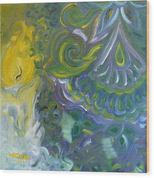 Light Patterns Wood Print by Wajeeha Zarrar