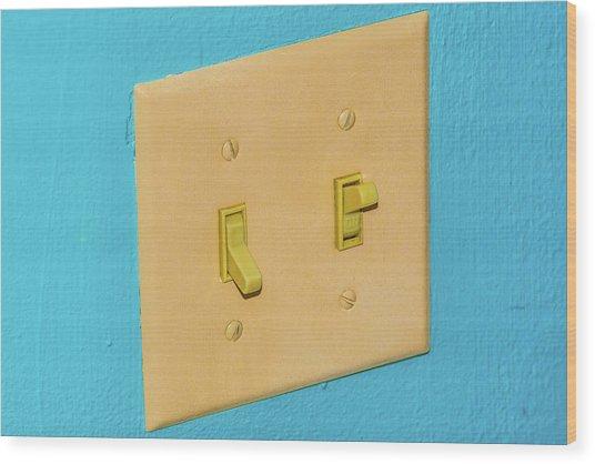 Light Switch Wood Print