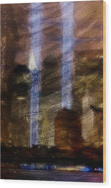 Light Towers Wood Print by Andrea Barbieri