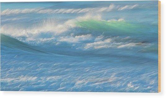 Light Wave At Asilomar, Pacific Grove, California Wood Print