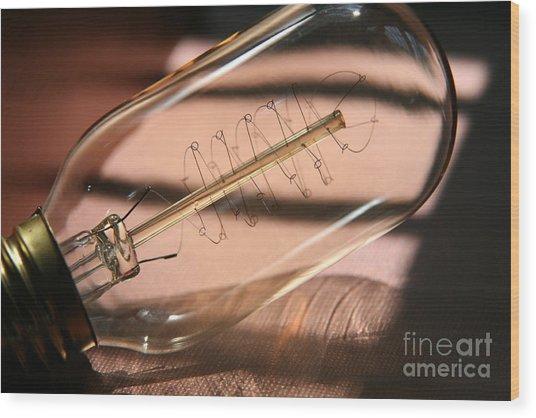 Lightbulb Moment  Wood Print