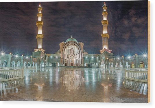 Lighted Federal Territory Mosque  Wood Print