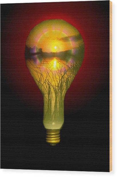Lighthearted Sunset Wood Print