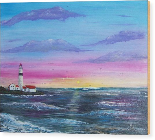 Lighthouse  5 Wood Print by Tony Rodriguez