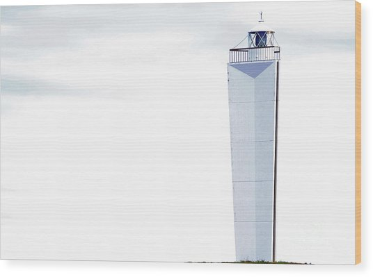Wood Print featuring the photograph Lighthouse At Cape Jervis by Stephen Mitchell