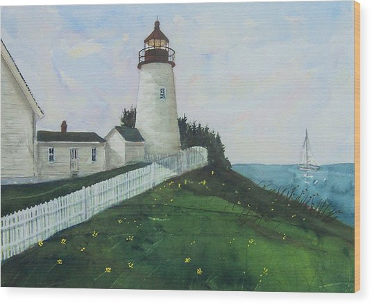 Lighthouse Calm Wood Print