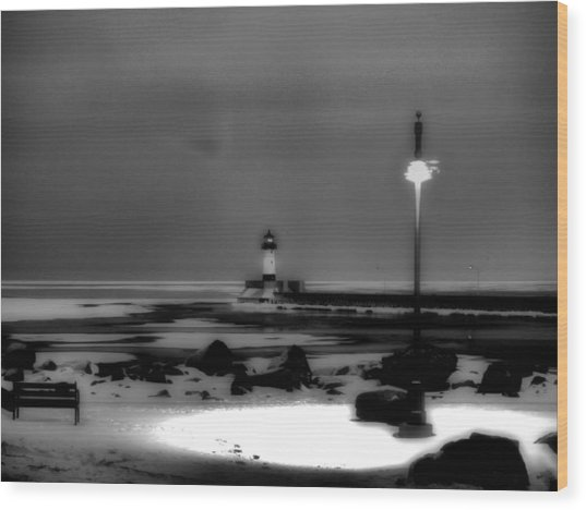 Lighthouse Canal Park Wood Print