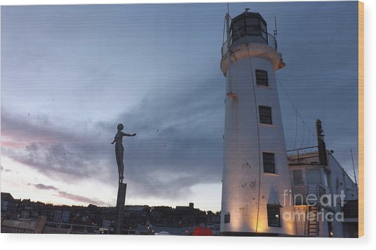 Lighthouse Lady 2 Wood Print
