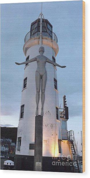 Lighthouse Lady Wood Print