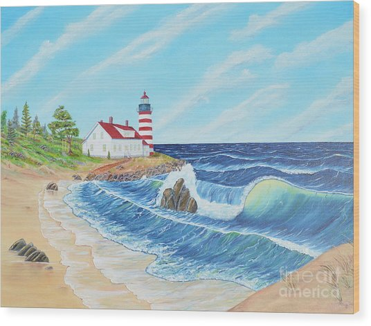 Lighthouse Life Wood Print