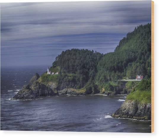Lighthouse Sanctuary Wood Print