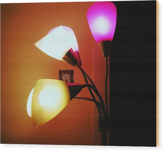 Lighting The Room Wood Print