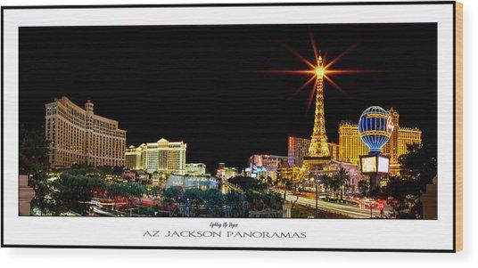Lighting Up Vegas Poster Print Wood Print by Az Jackson