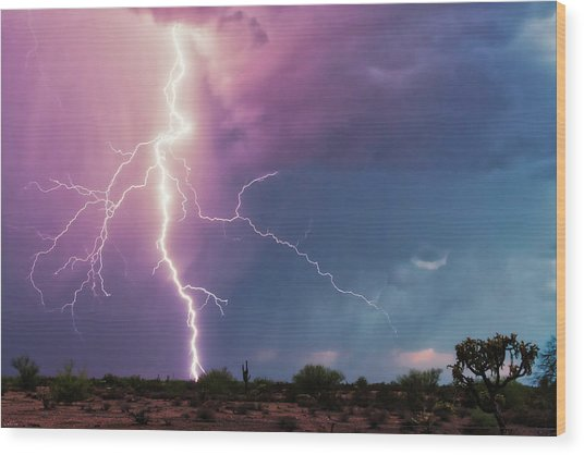 Lightning Dancer Wood Print