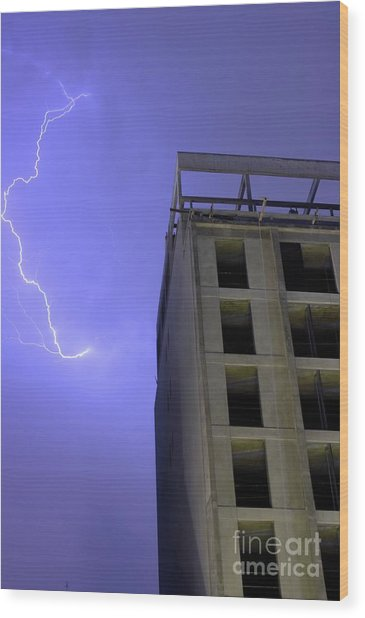 Lightning On Rivadavia Wood Print