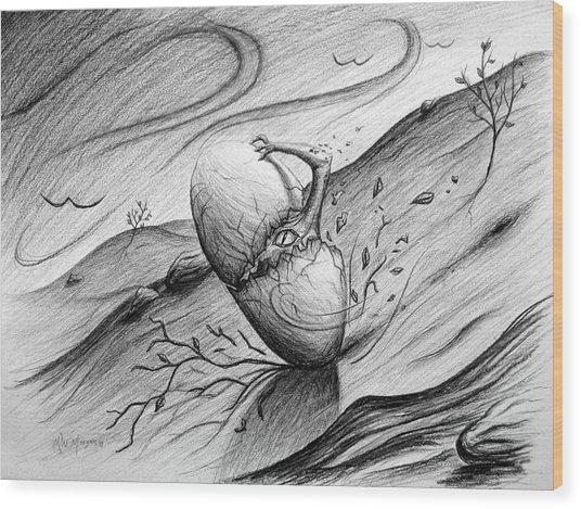 Like A Rolling Egg Wood Print by Michael Morgan
