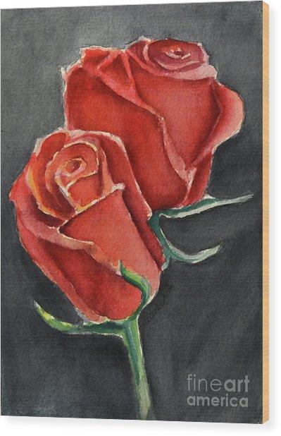Like A Rose Wood Print