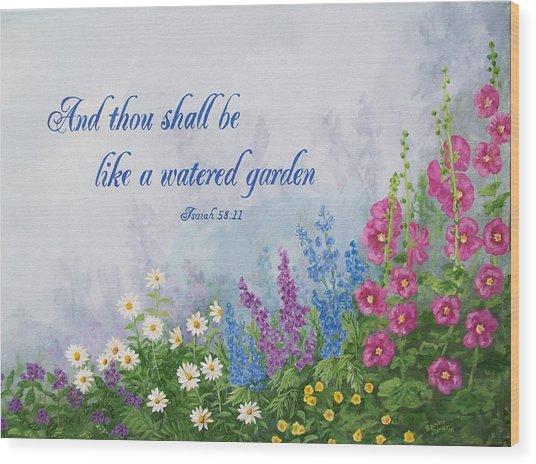 Like A Watered Garden Wood Print by Sandra Poirier
