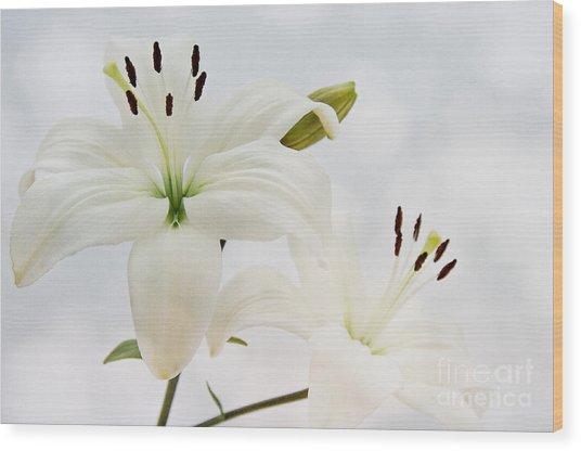 White Lilith Wood Print