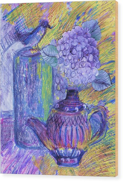 Like It Or Not It Is Different Wood Print by Anne-Elizabeth Whiteway