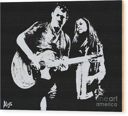 Like Johnny And June Wood Print