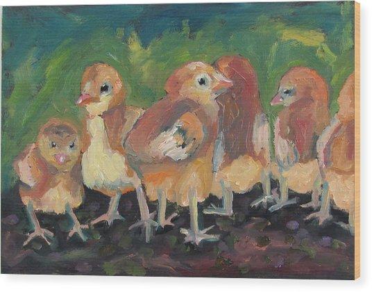 Lil' Chicks Wood Print