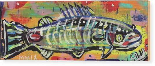 Lil' Funky Folk Fish Number Ten Wood Print