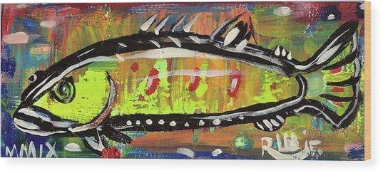 Lil Funky Folk Fish Number Twelve Wood Print