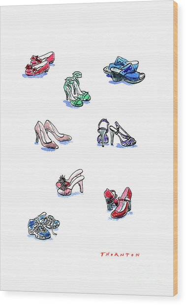 L'il Shoes Wood Print