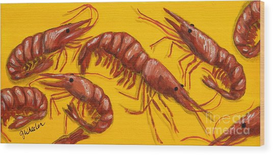 Lil Shrimp Wood Print