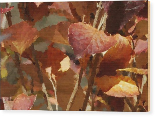 Lilac Leaves 36 Wood Print