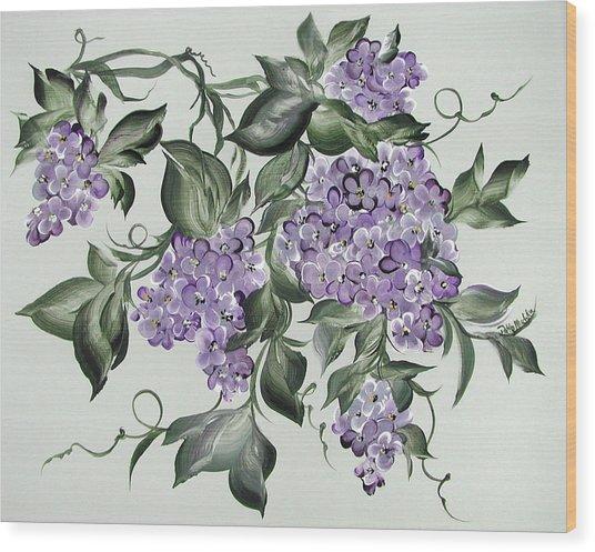 Lilac's Splendor Wood Print by Patty Muchka