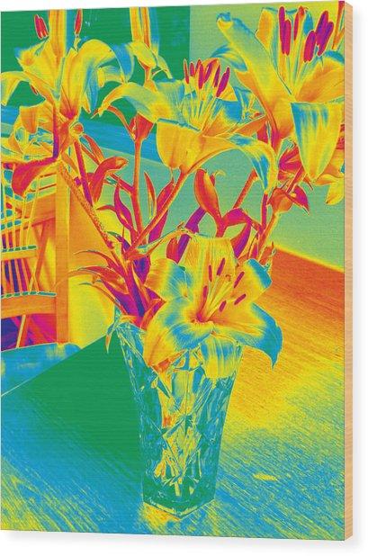 Lilies #3 Wood Print