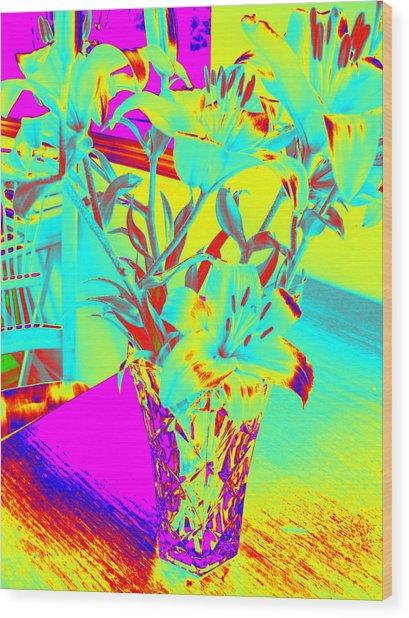 Lilies #4 Wood Print