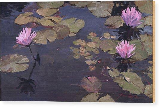 Lilies II - Water Lilies Wood Print