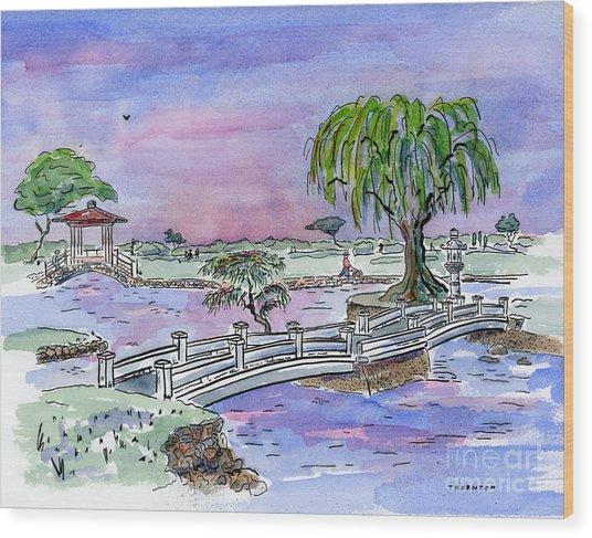 Liliuokalani Park Hilo Hawaii Wood Print