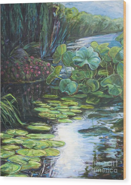 Lilly Pads Wood Print by Gary Symington