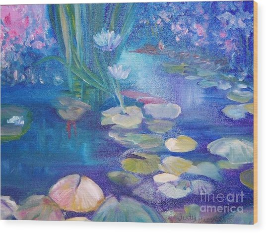 Lillypads Wood Print by Judy Groves
