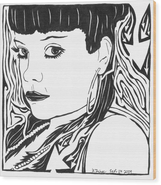 Lily Allen Maze Wood Print by Yonatan Frimer Maze Artist
