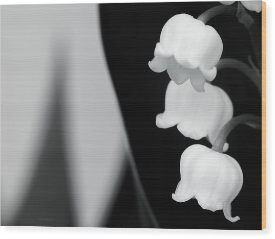 Lily Of The Valley Abstract Wood Print