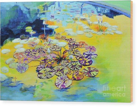 Lily Pad Dreams Wood Print