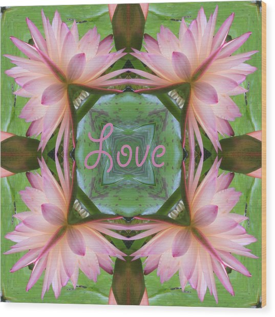 Lily Pad Love Wood Print