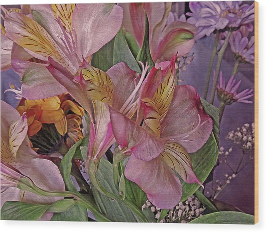 Lily Profusion 7 Wood Print