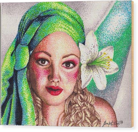 Lily Wood Print by Scarlett Royal
