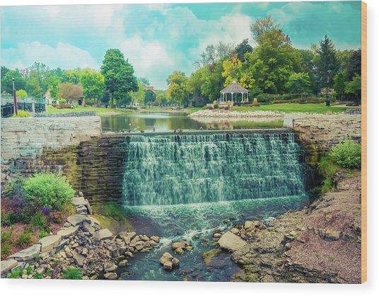 Lime Kiln Park Waterfall Wood Print