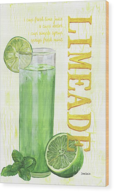Limeade Wood Print