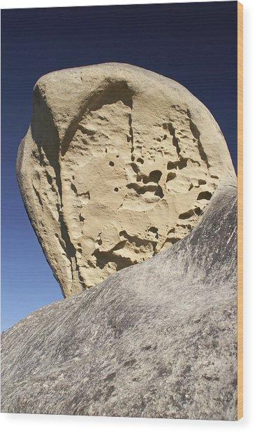 Limestone Rock Formation Wood Print by Geoff Bryant