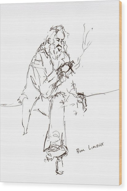 Limoux Bum Wood Print by Diane Daigle